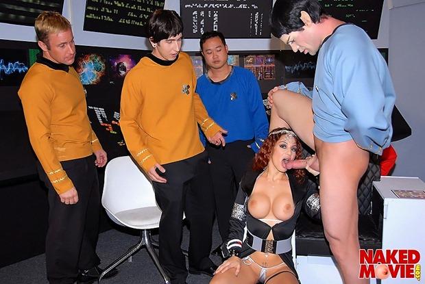 Star Trek parody porn gangbang